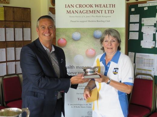 Sue Cridland - 2017 Ladies Singles champion