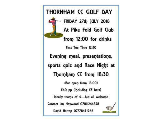 TCC Golf Day 2018