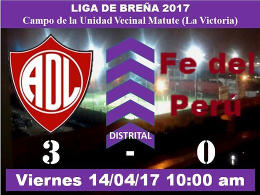 Defensor Lima FC 3 Fe del Perú 0