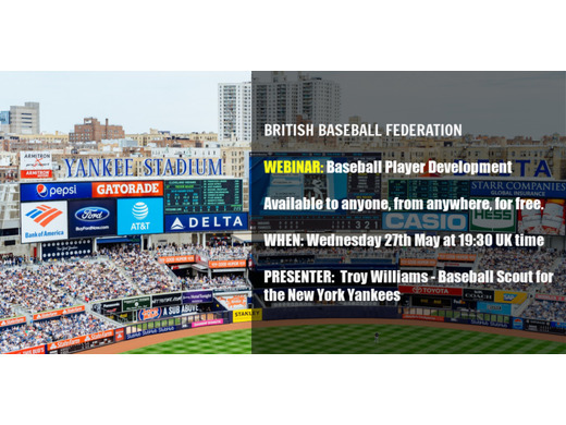 Free webinar: Baseball Player Development