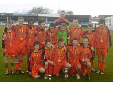 Hearts Wanderers Under 12`s League Cup Winners