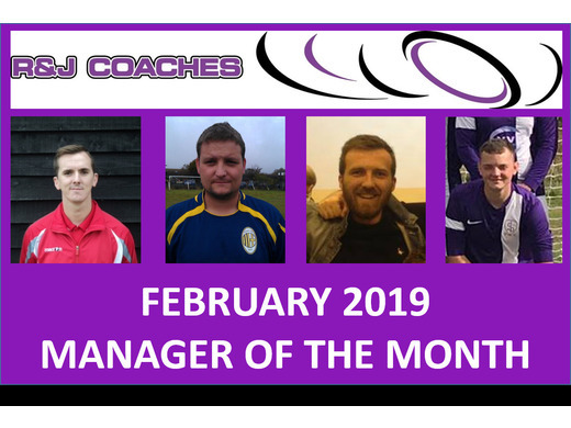 R&J Coaches Manager of the Month- February 2019