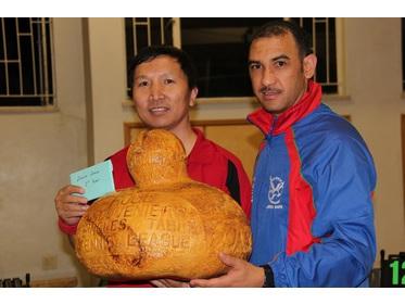 Rogl Sovenirs Singles A-league Winner (Colin Wang Yuqing) with NTTA Chairman