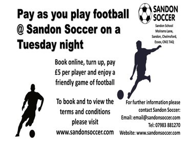 Sandon Soccer - Pay As You Play Football