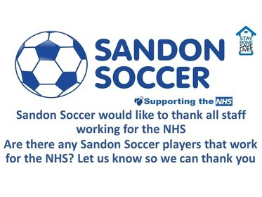 Sandon Soccer Thanks NHS Workers