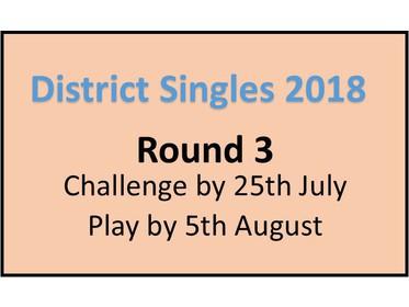 Singles Round 3 info