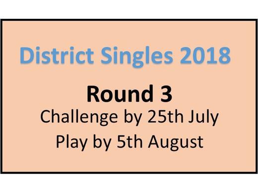 District Singles Round 3