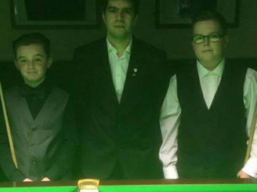 Paul Bajan at Junior Event 2 Final with Calvin Gourlay and Dean Young
