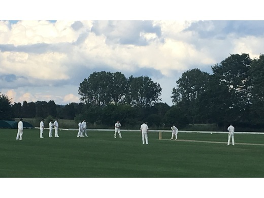 15 June 19: Harry Day batting out for a draw v Leighton Buzzard 2