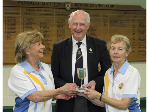 Gloria Taylor & Jan Roberts - Gooding Three wood Pairs Runners-up