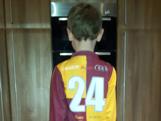 Max Davies Sporting the new U7 Kit