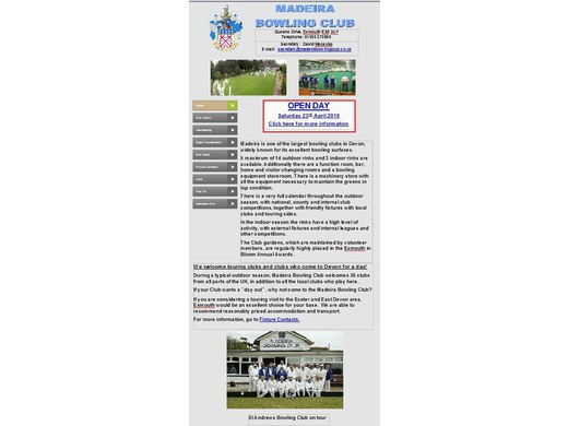 Madeira Bowling Club - the old web site