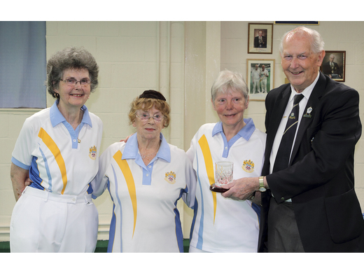 Fay Hughes; Pat Harris & Sandie Cox - Dora Wilson Two wood Triples Runners-up