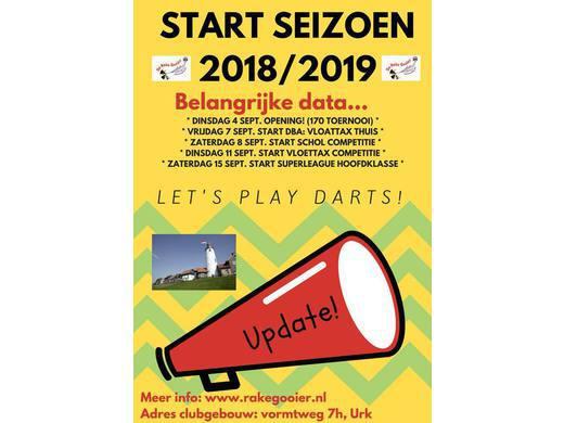 Seizoen 2018/2019: 4 sept. openings 170 toernooi!