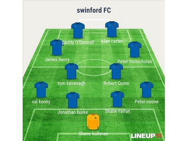 Swinford starting lineup that defeated Kiltimagh/Knock United 3-2