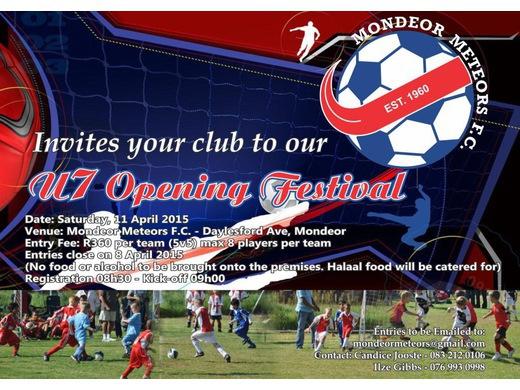Under 7 Opening Festival Invitation