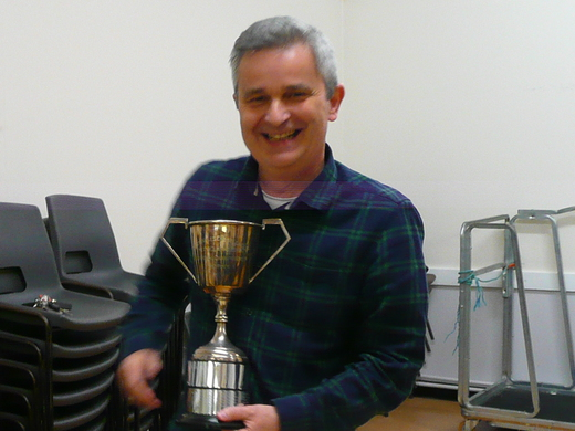 Ian Jones with the EJ Clarke Trophy