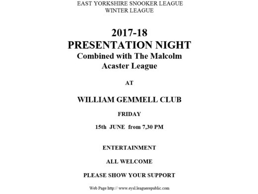 Winter Presentation & AGM