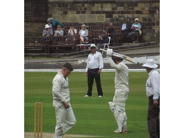 Opener Benjamin Pearson on his way to 79 vs Great Harwood.