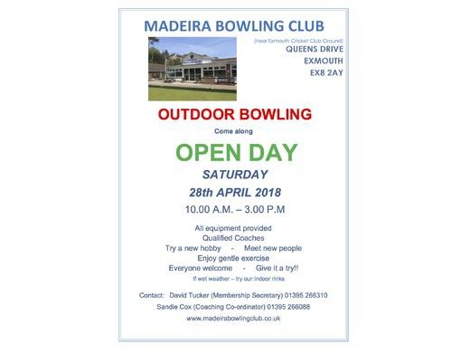 Open Day - Saturday 28th April