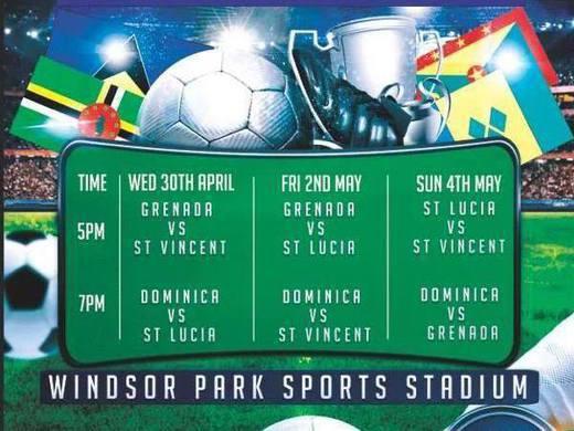 Fixtures set for the Windward Islands Football Tournament, Dominica 2014.