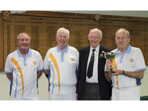 Cliff Skinner; Terry Reardon & Mike Gorman - Keith Ewins Open Triples Champions