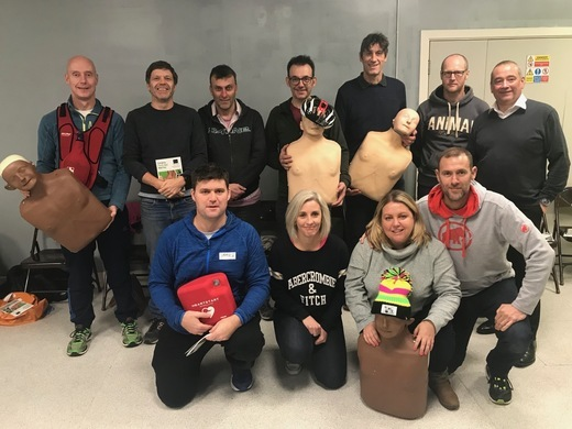 Coaches complete a level 3 first aid course