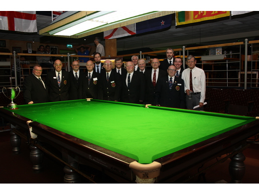 Colin Whitelaw & Alan Shepherd, with colleagues, (World Billiards)