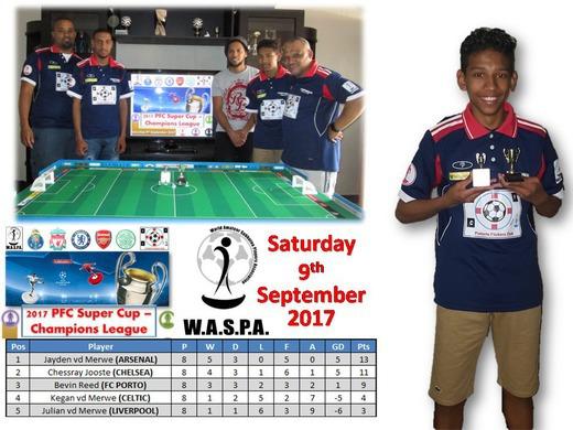 JAYDEN WINS THE 2017 PFC SUPER CUP / CHAMPIONS LEAGUE