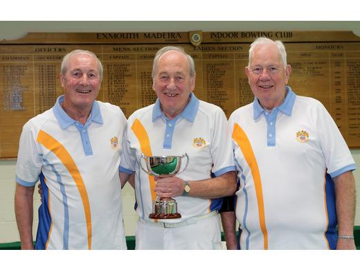 Cliff Skinner, Mike Gorman & Terry Reardon - Keith Ewins triples winners - 2019
