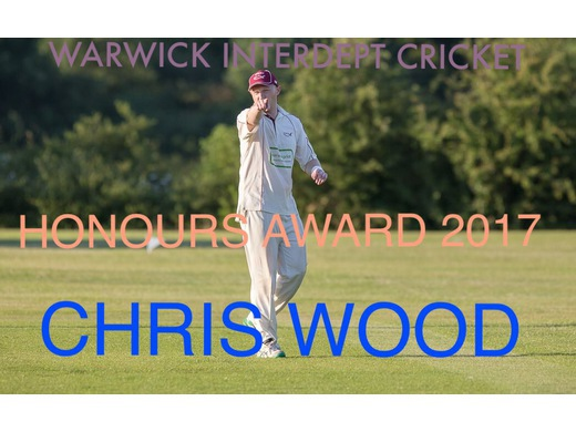 Chris Wood Honours Award 2017