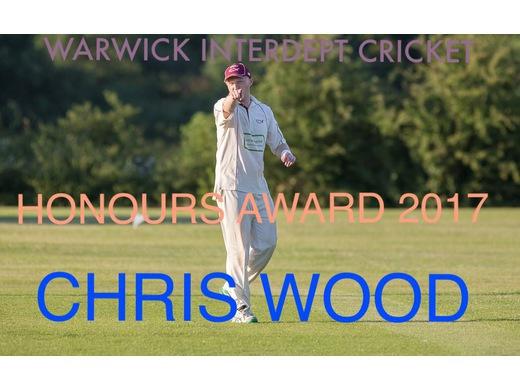 Chris Wood Honours Award 2017