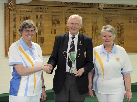 Glynis Byrn & Janine Orchard - Gooding Three wood Pairs Champions
