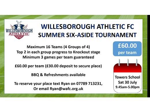 Willesborough to Host Summer Tournament