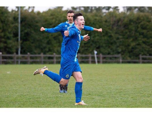 Gerry Canavan celebrates scoring in the Westaro Cup