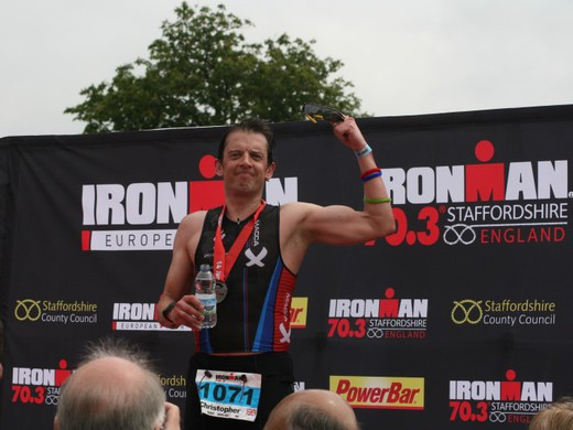 Qualified for the World Champs at Ironman 70.3 Staffordshire