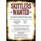 Skittlers Wanted - Poster - Download and print