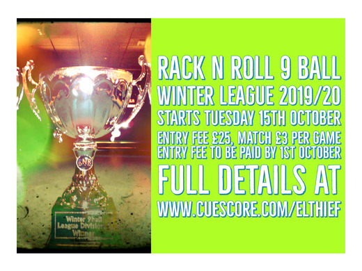 New Winter 9 Ball Season SIgn-Up Now Open