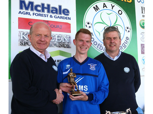 Kiltimagh/Knock Utd's Stephen Wallace was named the man of the match.