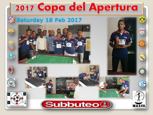 KEGAN VD MERWE WINS THE 2017 PFC COPA del APERTURA