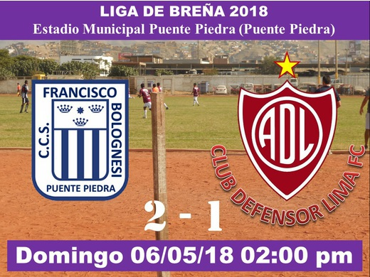 Francisco Bolognesi 2 Defensor Lima FC 1