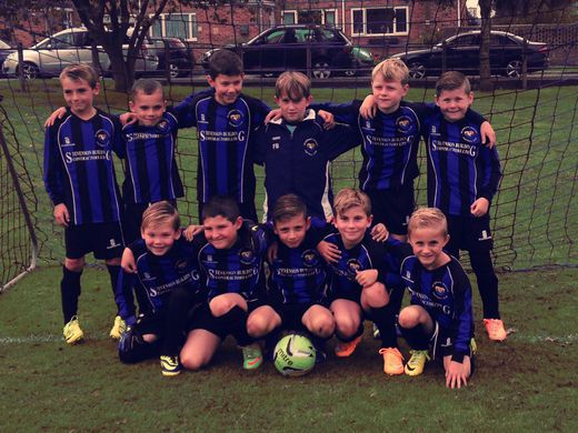 Under 9's in their new kit