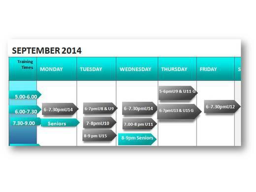 1st Training Schedule 2014