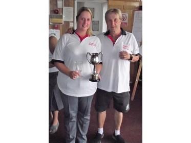 2019 - 2 Wood Mixed Pairs Champions - Alice & Kevin Moore (Radwinter)