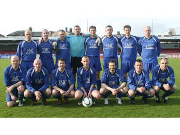 EMC FC - Mick Mooney and Premier Division Cup Winners 2013