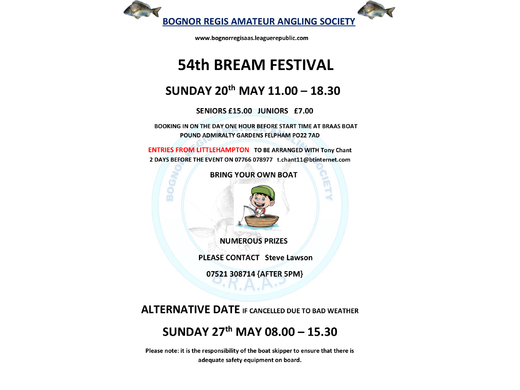 54th Black Bream Open Boat Festival