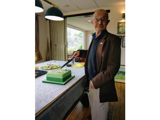 TCC ever present member Ray Dennie celebrating his 70th.