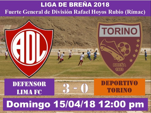 Defensor Lima FC 3 Deportivo Torino 0