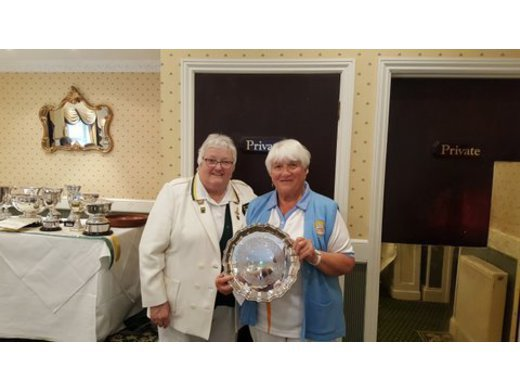 Deirdre Norman - Ladies Two wood singles champion