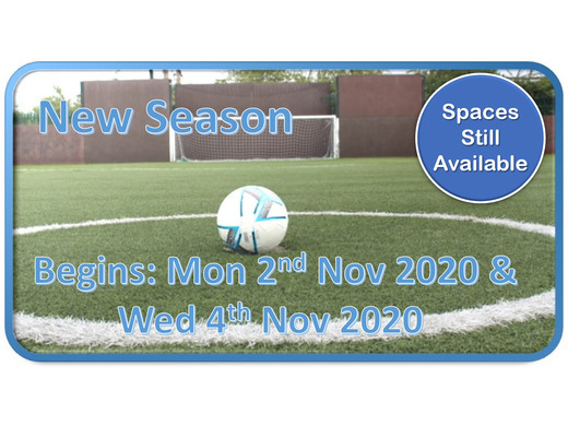 New Season's Begins - Monday 2nd November 2020 & Wednesday 4th November 2020